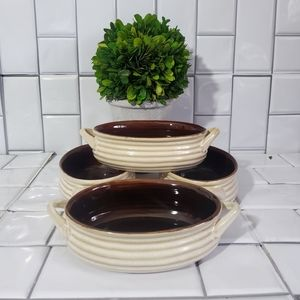 Lot of 4 CRATE&BARREL Stoneware Small Serving Bowl